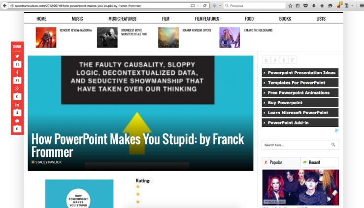 Powerpoint Irony